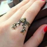 欧美外贸饰品 复古梅花鹿戒指 指环