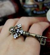 欧美 复古 男女通用 双圈 钥匙戒指