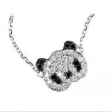 时尚可爱满钻小熊猫锁骨链 项链