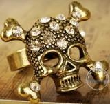 欧美外贸饰品 摇滚朋克骷髅头戒指开口