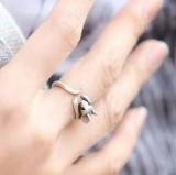 (古银)韩国饰品 可爱生肖 女式小老鼠戒指 指环