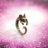 (古青)韩国饰品 可爱生肖 女式小老鼠戒指 指环