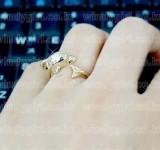 韩国日韩国《浪漫满屋》宋惠乔戴的海豚戒指(金色)