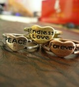 (forever红铜款)街拍潮人必配·Endless love.Peace forever戒指