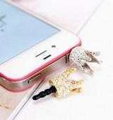 """""""银色"""" 韩国 韩版 皇冠手机塞 苹果手机防尘塞 皇冠款"""
