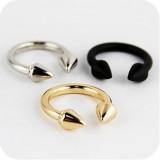 欧美夸张 复古潮人朋克铆钉箭头食指戒指女指环