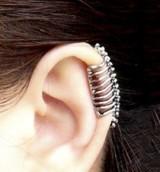 欧美朋克风骷髅脊椎骨耳骨夹耳钉无耳洞耳夹