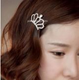 韩国进口 甜美气质 名媛 小清新 小皇冠 发夹 边夹 刘海夹子