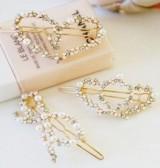 珍珠混水钻多造型实用小边夹 发夹