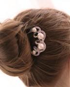 发饰水晶镶钻发插水钻盘发叉梳发簪子发梳