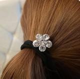 发饰头饰 水钻梅花水晶可爱花朵发圈皮筋发绳
