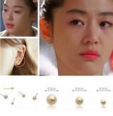 """@@""""卡片包""""来自星星的你同款继承者们同款日韩版系圆珠三件套时尚耳钉"""