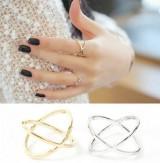 来自星星的你戒指女X交叉立体镂空环绕大热款搭配关节食指