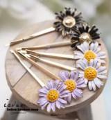韩国时尚发饰 批发 小雏菊花朵向日葵边夹 发夹夹子