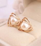 光面 珍珠 时尚 韩国饰品 耳钉 耳环