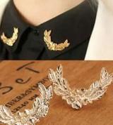 韩版衬衫西装领针 韩国立体金属麦穗小胸针 情侣领扣配饰
