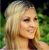速卖通欧美外贸饰品 森系 简约唯美百搭 手工串珠珍珠发带发饰