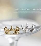 韩国流行小饰品批发 百搭小可爱复古皇冠戒指 尾指戒