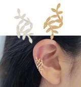 蔓延的树叶耳夹耳钉气质女耳环耳饰无耳洞耳扣耳骨夹