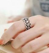 韩版复古镂空雕花套戒明星同款关节戒指指环女