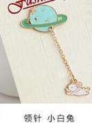 韩国饰品活泼可爱富士山星球煎蛋招财猫云朵领针胸针别针