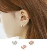 韩国水晶珍珠耳夹耳钉气质女耳环耳饰无耳洞耳扣耳骨夹