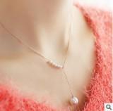 日韩气质甜美配饰珍珠项链女饰品锁骨细链