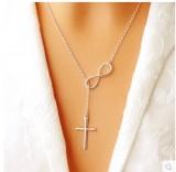 8字十字架毛衣链首饰女生流行项链 速卖通爆款