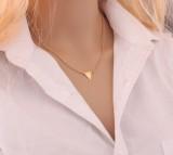 速卖通爆款欧美外贸新品时尚街拍风 单层三角项链 锁骨链 短链