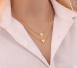 速卖通爆款欧美外贸新品时尚街拍风 双层三角项链 锁骨链 短链