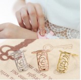 韩国时尚梅花五角星指甲盖戒指 韩国玫瑰花小蛇护甲指环女批发