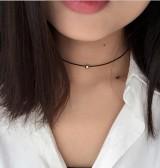 原宿颈链脖链蕾丝项链颈带项圈女毛衣链锁骨链朋克项链女【金珠款】