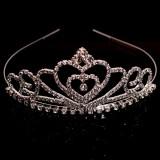 新娘发饰 头饰 女童公主儿童宝宝头饰发饰 水钻皇冠发梳