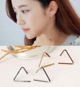 极简约欧美款气质时尚简约开口三角形几何简单耳钉