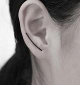 简约个性气质极简风定制u型欧美耳环耳针耳钉女耳环耳饰