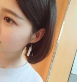 欧美贝壳几何耳环简约三角圆形耳钉 百搭耳夹无耳洞耳坠 韩国时尚