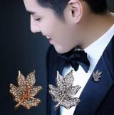 韩国枫叶男士西装精致小胸针 时尚男女衬衫领针衣领扣