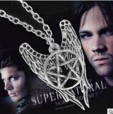 速卖通款邪恶力量 supernature 五角星翅膀项链 ebay热卖