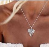 速卖通款复古民族风波西米亚吉普赛 仿泰银吉祥物大象女式项链