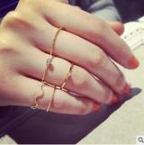 韩国新款波浪五件套套装个性时尚戒指5件套细致食指关节戒尾戒女饰品