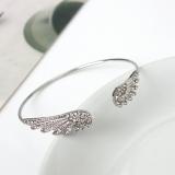 韩国时尚饰品 天使之翼镶钻手镯 个性合金开口闪钻手环