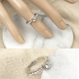 仿真钻戒 满钻钻石结婚半圈钻细指环戒指 钻石戒指