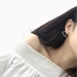 韩式简约创意几何立体三角形镂空耳钉个性酷炫耳环配饰女