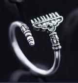 银戒指西游记时尚 师徒兵器指环紧箍咒猴年生肖戒指指环女