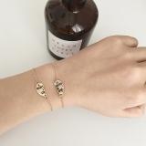 欧美外贸饰品 好朋友情侣手链 心形拼接手饰
