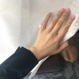 特别的粉色石头五件套套戒戒指女日韩潮人关节戒气质简约饰品