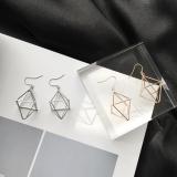 个性几何灯笼金字塔立体三角形耳环耳坠