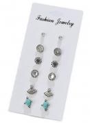 新款韩国东大门高品质耳钉 复古松石多对6对耳钉套装组合耳饰品
