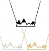 欧美个性几何火山不规则弯折造型项链速卖通热卖锁骨链男女