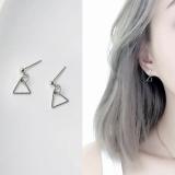 简约镂空三角形几何防过敏耳钉耳环耳饰男女